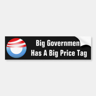 Big Government Costs Us Bumper Stickers