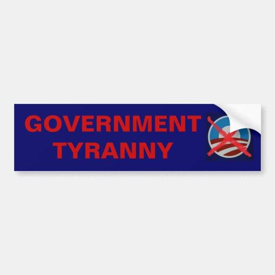 Big Government killed the US Constitution! Bumper Sticker