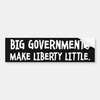 Big Governments, Little Liberty Bumper Sticker Car Bumper Sticker