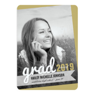 Big Grad Scribbles Photo Graduation Announcement