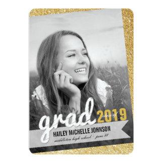 "Big Grad Scribbles Photo Graduation Announcement 5"" X 7"" Invitation Card"