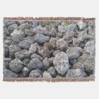 Big Gray Rocks Photo Print Design Cool Throw Blanket