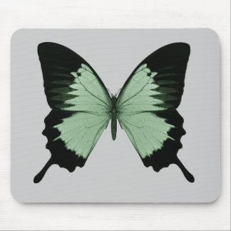Big Green & Black Butterfly Mouse Pad