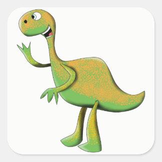 Big Green Dino Square Sticker