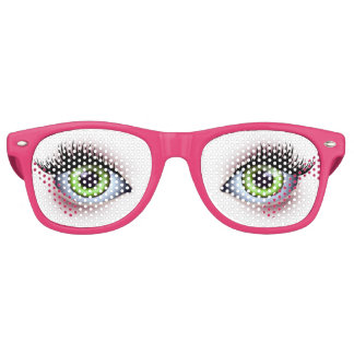 Big Green Eyes Party Glasses