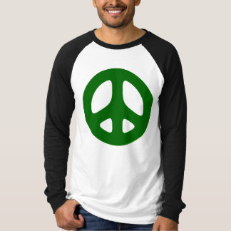 Big Green Peace Sign T-shirt