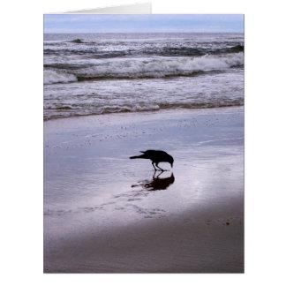 Big Greeting Card - Crow