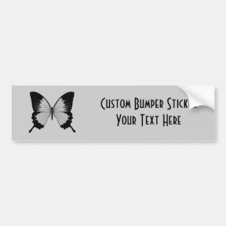 Big Grey Black Butterfly Bumper Stickers