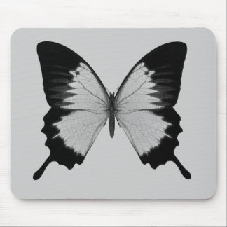 Big Grey & Black Butterfly Mouse Pad