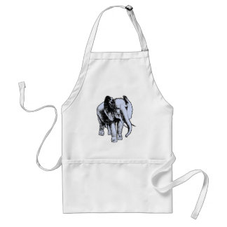 Big Grey Elephant Adult Apron
