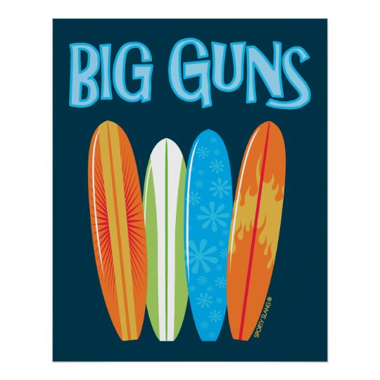 BIG GUNS- SPORTY SLANG- POSTER