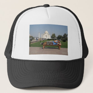 Big guy in India Trucker Hat