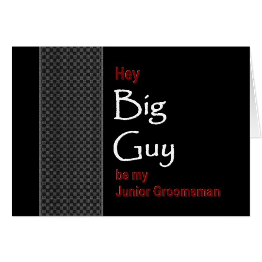 BIG GUY Junior Groomsman  Wedding Invitation