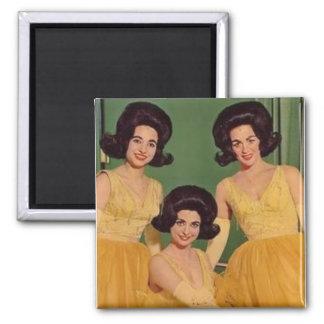 Big Hair Beauties Square Magnet