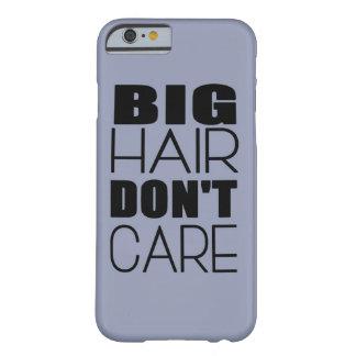Big Hair Don't Care Phone Case - Powder Blue