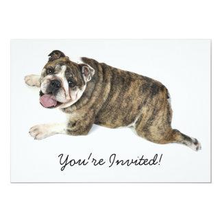 Big Happy Bulldog 13 Cm X 18 Cm Invitation Card