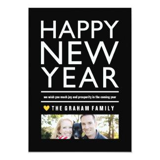 Big Happy New Year Flat Photo Card 13 Cm X 18 Cm Invitation Card