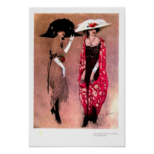 Big hat fashion poster