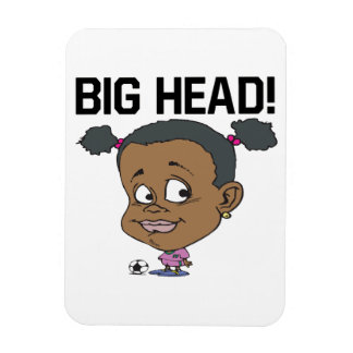 Big Head Rectangular Photo Magnet
