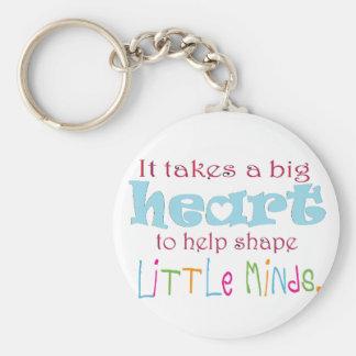 Big Heart: Counselor:Mentor:Teacher Basic Round Button Key Ring