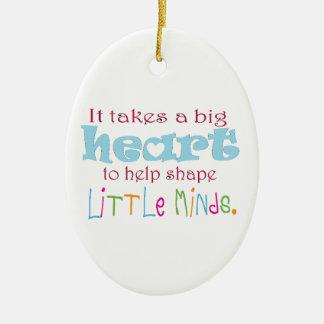 Big Heart: Counselor:Mentor:Teacher Christmas Ornament
