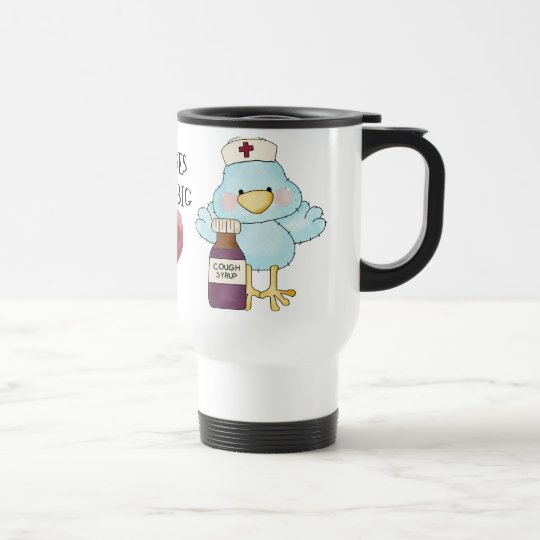 Big Heart Nurse Travel mug
