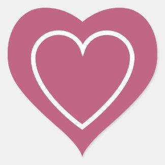 Big Heart Outline Pink Background V04 Heart Sticker
