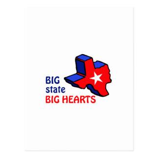 BIG HEARTS IN TEXAS POSTCARD
