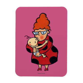 Big Hello Hugs from Auntie in Red Rectangular Photo Magnet
