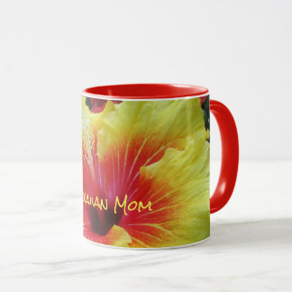 Big Hibiscus Flower Hawaiian Mom Personalized Mug