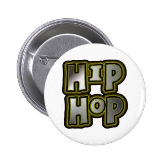 Big Hip Hop Graffiti Multi-Color, Metal Effects 6 Cm Round Badge
