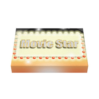 Big Hollywood Movie Star Night Cinema Event Canvas Print