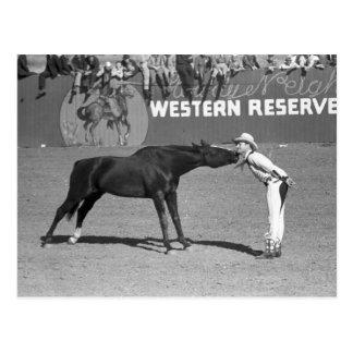Big Horse Kiss, 1940 Postcard