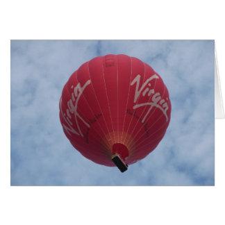 Big Hot Air Balloon Card