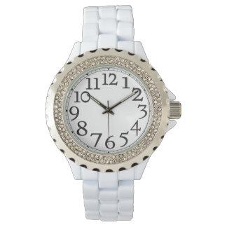 Big Hour Numbers Rhinestone Wrist Watch