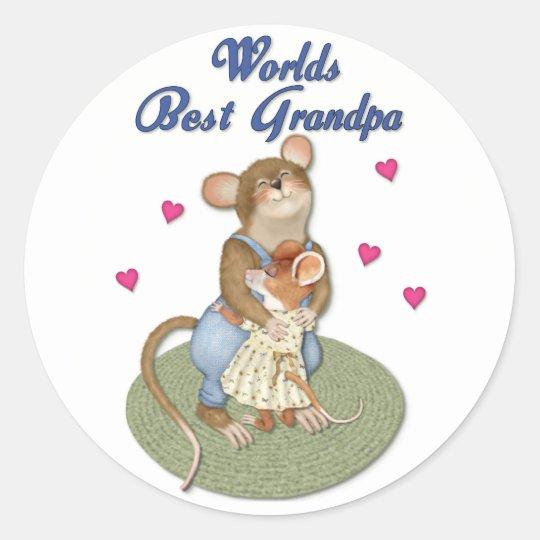 Big Hugs Grandpa Classic Round Sticker