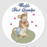Big Hugs Grandpa Round Stickers