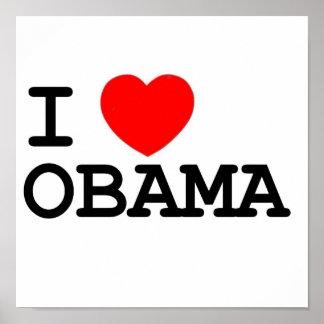 BIG I Heart Obama Poster