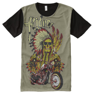 Big Indian Rider All-Over Print T-Shirt