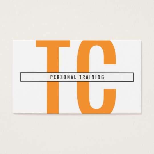 Big Initials Monogram in Orange and White Business