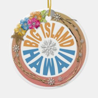 Big Island Hawaii holiday hibiscus ornament