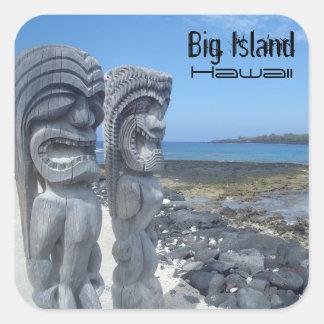Big Island Hawaii laughing tikis stickers