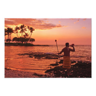Big Island, Hawaii. Sunset, Big Island Hawaii. Photographic Print