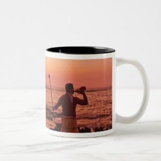 Big Island, Hawaii. Sunset, Big Island Hawaii. Two-Tone Coffee Mug