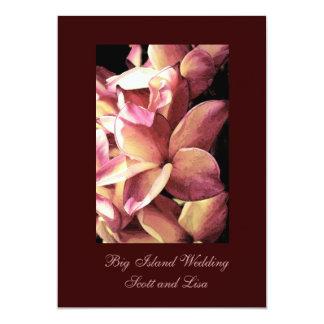 Big Island Wedding 13 Cm X 18 Cm Invitation Card