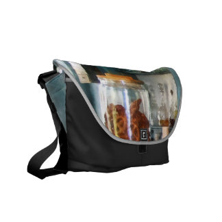 Big Jar of Pretzels Messenger Bags