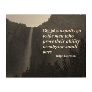 Big Jobs by Ralph Emerson Wood Print