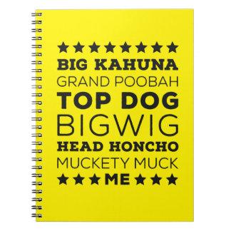 Big Kahuna Spiral Note Book
