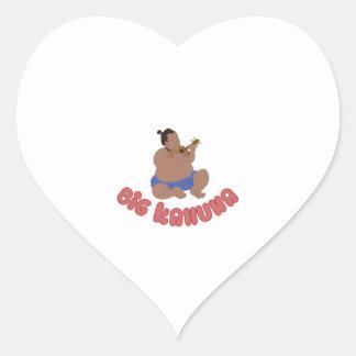 Big Kahuna Heart Sticker