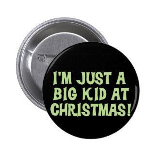 Big Kid at Christmas Tshirts and Gifts 6 Cm Round Badge